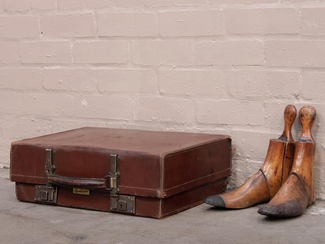 Vintage Leather Suitcase by Revelation - Sold - Scaramanga