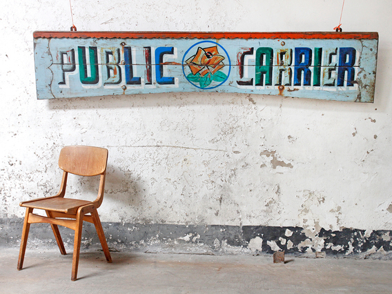 View our  Painted Truck Sign from the  Vintage Art  collection