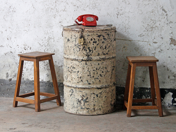 View our  Vintage Metal Drum Table and Storage  from the   collection