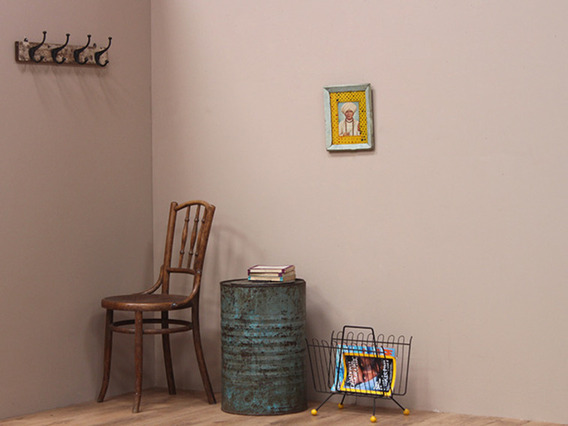 View our  Vintage Metal Small Side Table and Storage Drum from the   collection