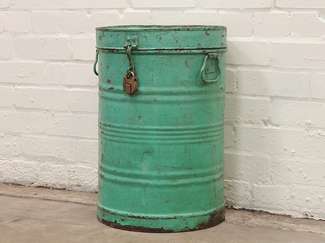 View our  Vintage Metal Storage Drum from the   collection