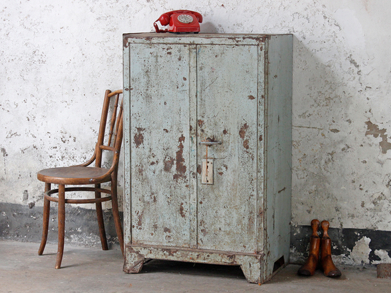 View our  Vintage Metal Strong Box Cabinet from the   collection