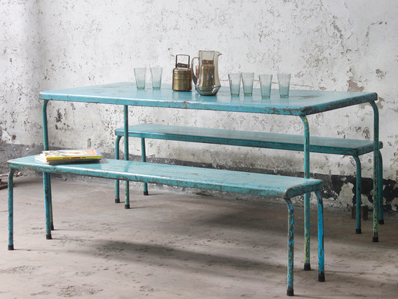 View our  Vintage Table And Bench Set from the   collection