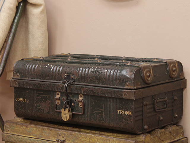 View our  Vintage Metal Travel Suitcase  from the   collection