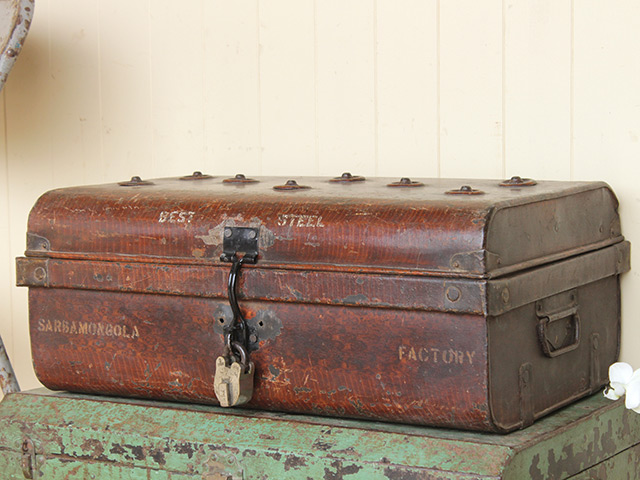 View our  Vintage Metal Travel Trunk  from the   collection