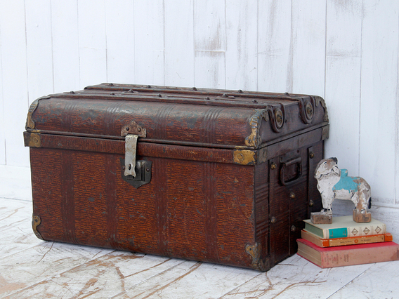 View our  Vintage Metal Trunk from the  Old Travel Trunks collection