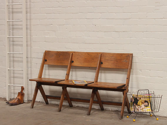 View our  Vintage Oak Folding Theatre Chairs from the   collection