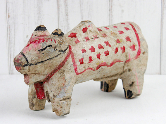 Vintage Painted Temple Cow