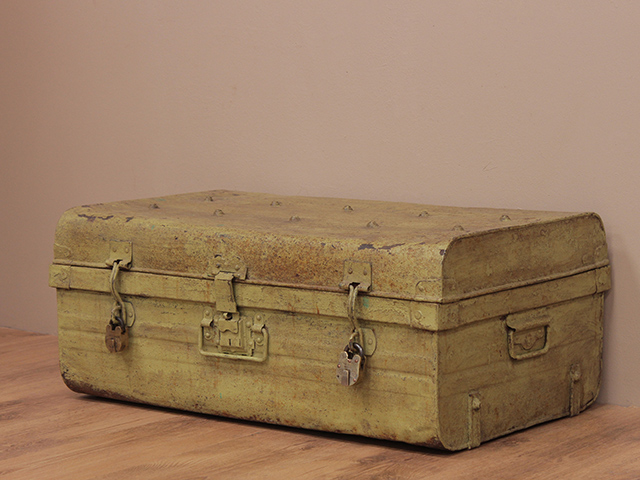 View our  Vintage Pale Green Metal Trunk from the   collection