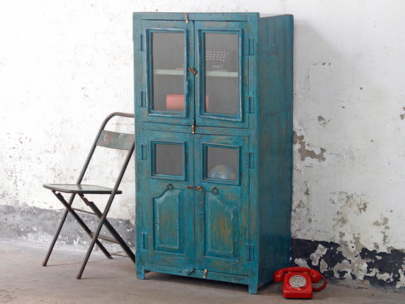 View our  Large Blue Cabinet from the  Vintage Cabinets & Cupboards collection