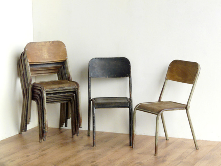 View our  Vintage School Chairs (Pair) from the   collection