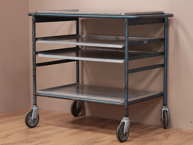 View our  Vintage School Dinner Trolley from the  Vintage Shelving collection