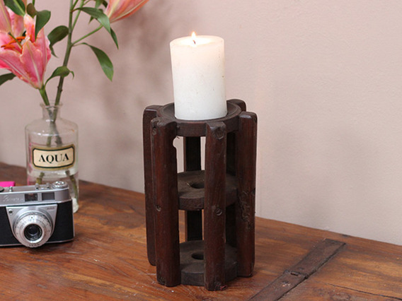 View our  Vintage Spindle Candle Holder from the  Vintage Wooden Candlesticks collection