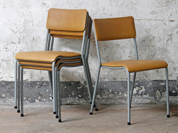 Vintage folding chairs retro benches stools for Vintage retro chairs
