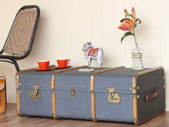 View our  Vintage Steamer Trunk (C) from the   collection