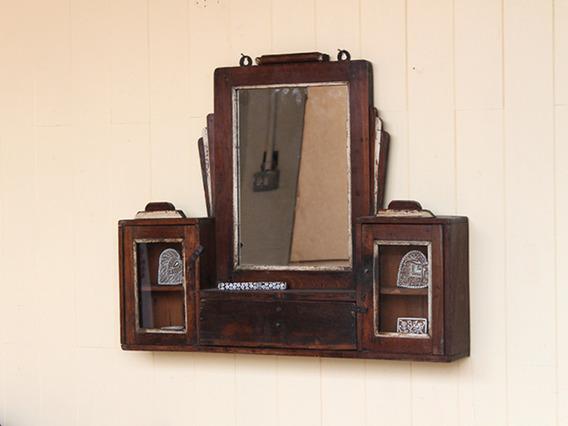Vintage Teak Art Deco Cabinet and Mirror MIRR35201 C