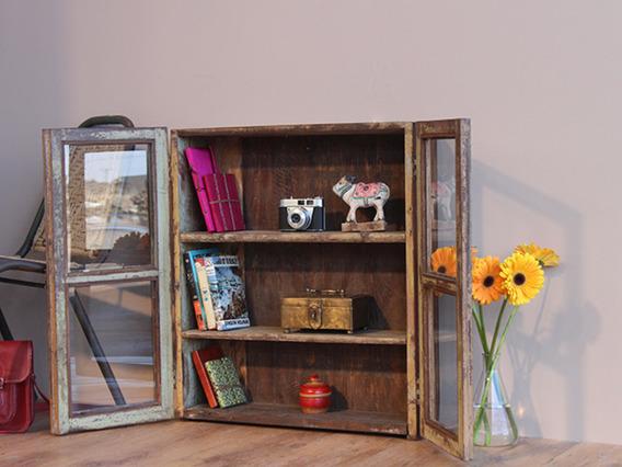 Vintage Teak Glass-Fronted Cabinet (C)