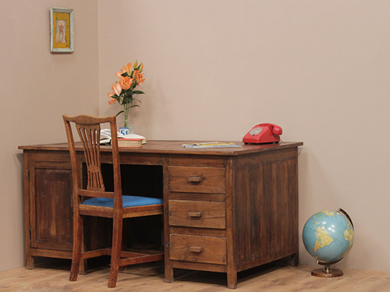 View our  Vintage Teak Office Desk from the   collection