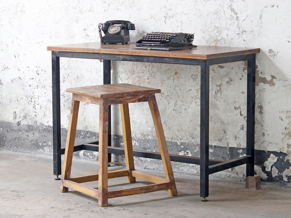View our  Vintage Teak School Lab Table from the   collection
