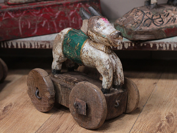 View our  Vintage Temple Cow Toy from the  DO NOT USE Home Accents collection