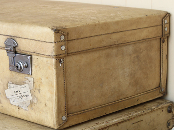 View our  Vintage Vellum Leather Suitcase by Harrods (C) from the   collection