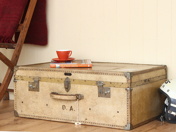 View our  Vintage Vellum Leather Travel Trunk (C) from the   collection