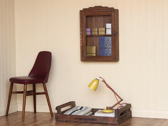 Vintage Wall-Hanging Display Cabinet