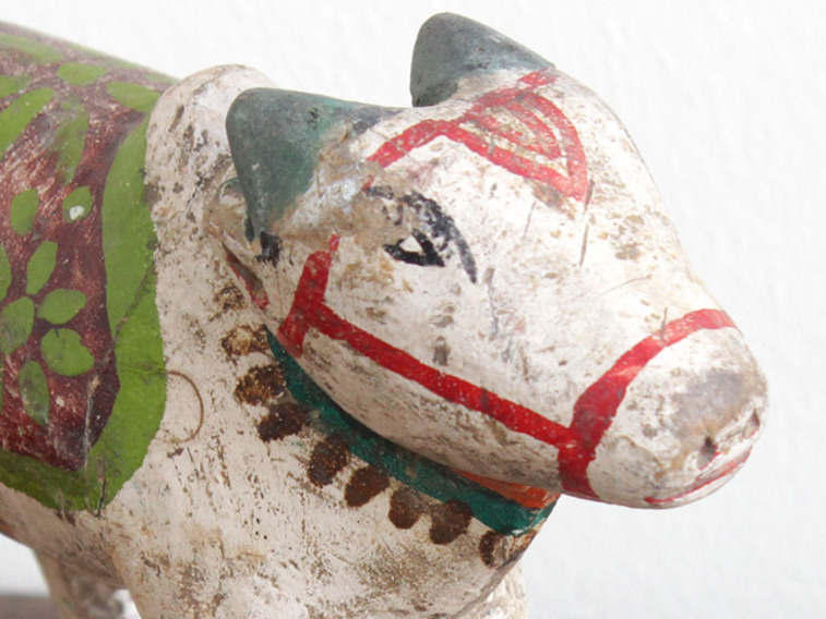 View our  Vintage Wooden Cow from the  Vintage Wooden Pots collection