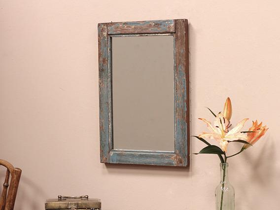 Vintage Wooden Mirror (C)
