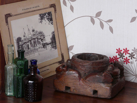 View our  Vintage Wooden Pot from the  Vintage Wooden Candlesticks collection