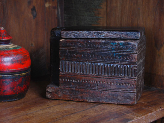 View our  Vintage Wooden Spice Box 724 from the   collection