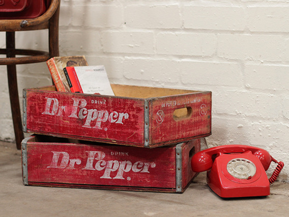 View our  Vintage Dr Pepper Bottle Crate from the   collection