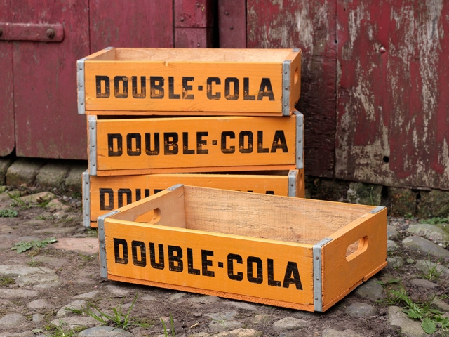View our  Vintage Double Cola Bottle Crate from the   collection