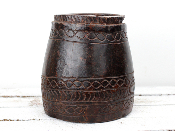 Wooden Measuring Pot