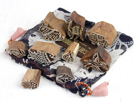 View our  Wooden Printing Blocks 10 piece set from the  Gift Sets collection