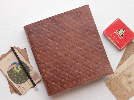 XXL Embossed Leather Journal