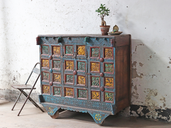 View our  Antique Damchiya Chest from the  Hallway collection