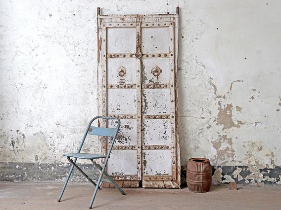 Antique Indian Doors - White