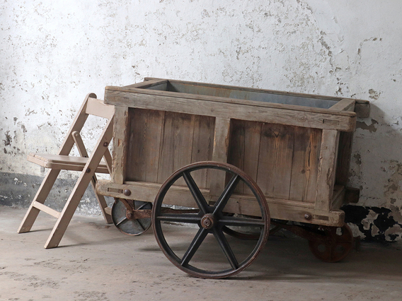View our  Antique Industrial Mill Cart from the   collection