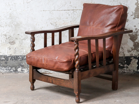 View our  Antique Reclining Lounge Chair from the  Hallway collection