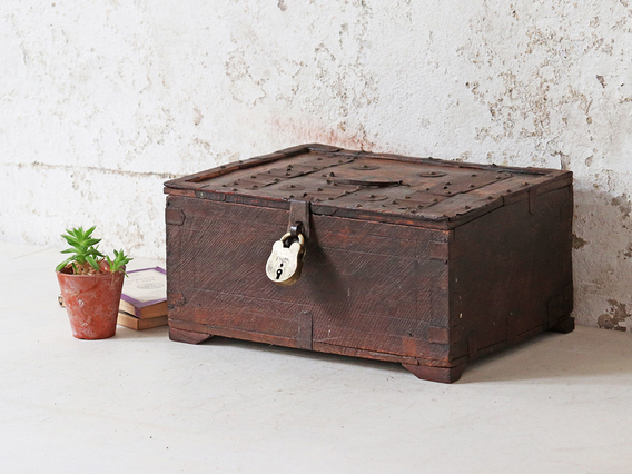 View our  Antique Shekhawati Box from the  Bathroom Storage collection