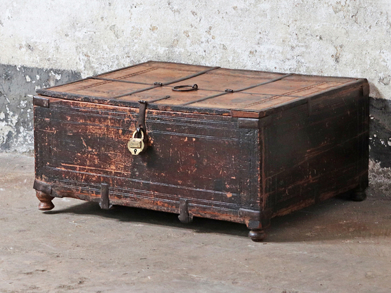 View our  Antique Shekhawati Box from the  Old Wooden Chests, Trunks & Boxes collection