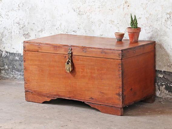 View our  Antique Wooden Chest from the  Hallway collection