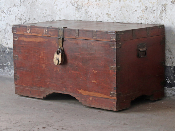 View our  Antique Wooden Trunk from the   collection