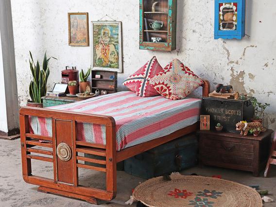 Art Deco Single Bed