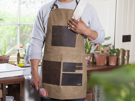 View our  Artisans Leather and Canvas Apron from the   collection