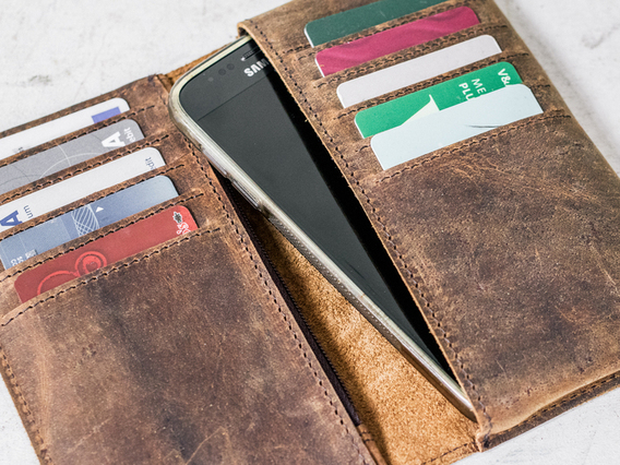 View our  Leather Smartphone Wallet from the  Work Gifts collection