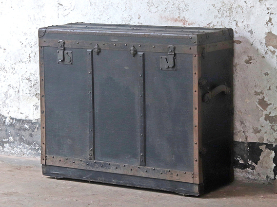 View our  Black Antique Trunk from the  Old Travel Trunks collection