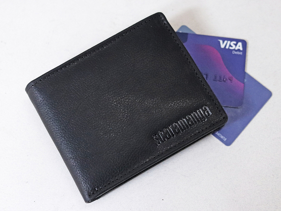 View our  Black Leather Wallet from the   collection