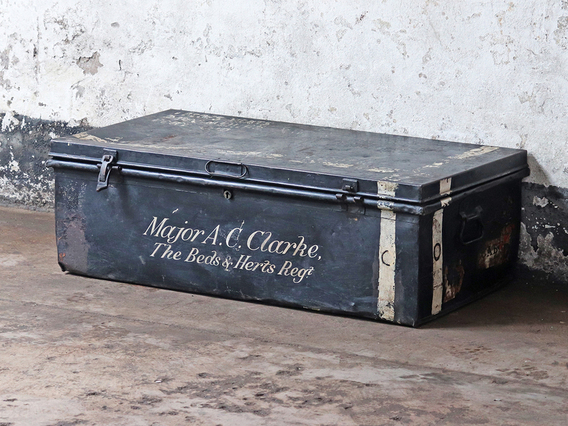 View our  Military Metal Travel Trunk from the  Sold collection